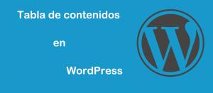 Tabla de contenidos WordPress