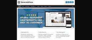 GeneratePress plantilla